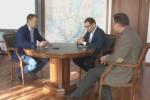 Дмитрий Коган на встрече с губернатором Иркутской области Сергеем Ерощенко. Фото с сайта http://as.baikal.tv